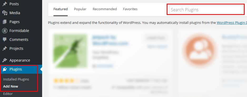 Search WordPress Plugin Repository