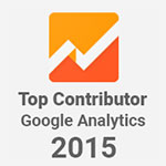 Bronwyn Vourtis Official Top Contributor Google Analytics 2015 Badge