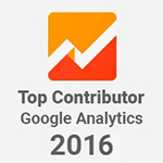 Bronwyn Vourtis Official Top Contributor Google Analytics 2016 Badge