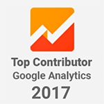 Bronwyn Vourtis Official Top Contributor Google Analytics 2017 Badge